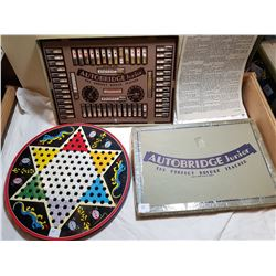 LOT INCLUDING OLD AUTO BRIDGE AND CHINESE CHECKERS GAME