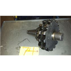 """Holder CAT-50 with Set of Iscar 8"""" Slot Milling Cutter  D8.0-.85-12-15-Z14 with some insert ADKT 150"""