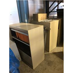 Lot of (3) 3 drawer lateral filing cabinets