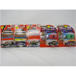 LOT OF 5 MATCHBOX TOYS ( 2-AROUND THE WORLD, GRAND CANYON, GREAT WALL OF CHINA, AIR LIFT HELICOPTER,