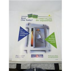 CANADA POST POSTER (POSTAL BOX-RENT ONE TODAY!)