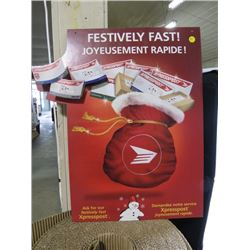 CANADA POST -EXPRESS POST POSTER (FESTIVLY FAST! )