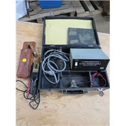 VOLTAGE TESTER AND 12 VOLT POWER SUPPLY (WIGGINTON-SQUARE D COMPANY AND MICRONTA)