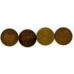 LOT OF 4 LARGE ONE CENT COINS (1911-1917-1918-1919)