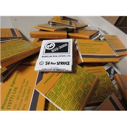 LOT OF 30 PACKAGES OF MATCHES (UNUSED)