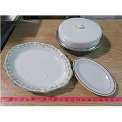 TWO PLATES AND PIE PAN