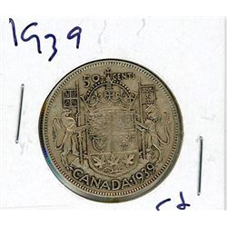 FIFTY CENT COIN (CANADA) *1939* (SILVER)