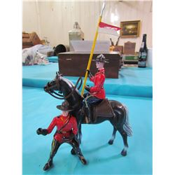 RCMP HORSE AND TWO RIDERS