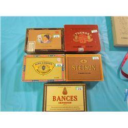 LOT OF 5 CIGAR BOXES