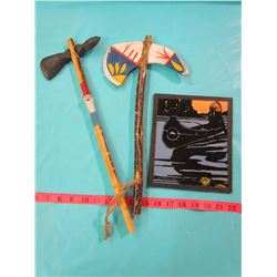 LOT OF 2 TOMAHAWKS AND PICTURE