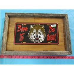 FRAMED PLATE (BORN TO BE WILD)