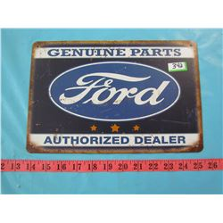 FORD SIGN (GENUINE PARTS AUTHORIZED DEALER)