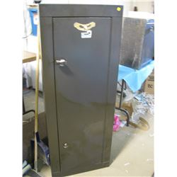 "GUN SAFE (HOMAK SECURITY)  *21"" WIDE X 10"" DEEP X 55"" TALL* (GUNS IN PICTURES NOT INCLUDED) *WITH KE"