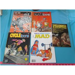 LOT OF 5 CARTOON AND WESTERN MAGAZINES