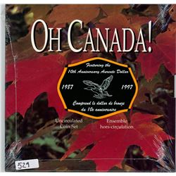 1997 OH CANADA SET WITH 10TH ANNIVERSARY OF THE AUREATE DOLLAR