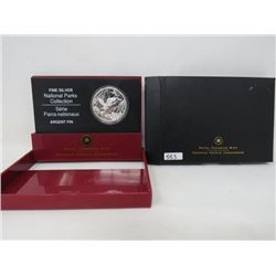 2005 Proof National Parks $20 .9999 silver.   $50.