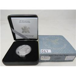 1997 Proof Tenth Anniversary Flying Loon .9999 silver.   $70.