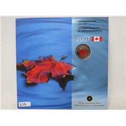 2007 Canada Day colourized red maple leaf Specimen Set