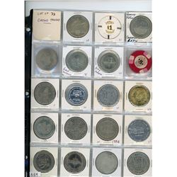 Lot of 33 casino tokens from Canada, U.S.A., Puerto Rico and ships.