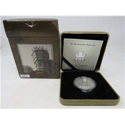 2001 Proof silver dollar depicting Canada's first silver dollar minted in 1911, Canada's most valuab