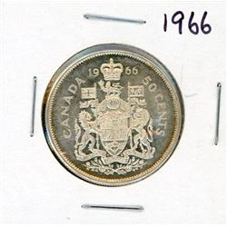 FIFTY CENT COIN (CANADA) *1966* (SILVER)