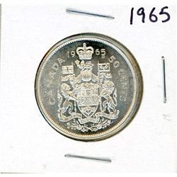 FIFTY CENT COIN (CANADA) *1965* (SILVER)