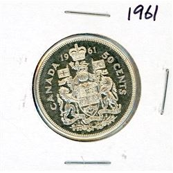 FIFTY CENT COIN (CANADA) *1961* (SILVER)
