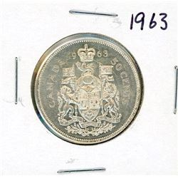 FIFTY CENT COIN (CANADA) *1963* (SILVER)