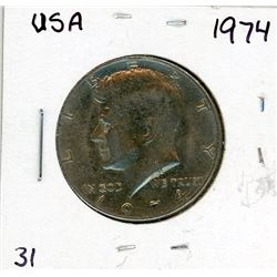 FIFTY CENT COIN (USA) *1974*