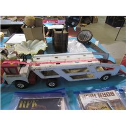 """LARGE TONKA TRUCK AND TRAILER (41"""" X 7"""")"""