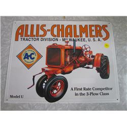 ALLIS CHALMERS TIN SIGN (REPRODUCTION)