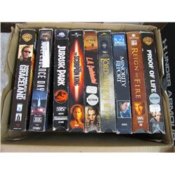 TWO BOXES OF VHS MOVIES (19 MOVIES)