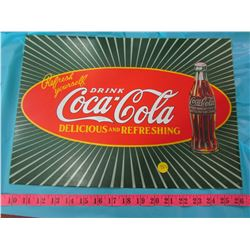 COCA-COLA BOTTLE AND REPRODUCTION SIGN