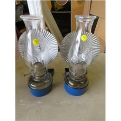 ONE PAIR OF REFLECTOR OIL LAMPS