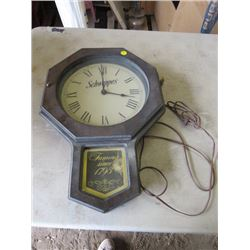 """SCHWEPPES ELECTRIC CLOCK (19"""" TALL X 14"""" WIDE)"""