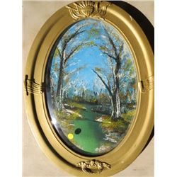 OVAL FRAME PICTURE (CONVEX GLASS)