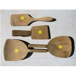 FOUR BUTTER PADDLES