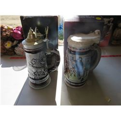 TWO AVON STEINS (1 WITH AFTER SHAVE)