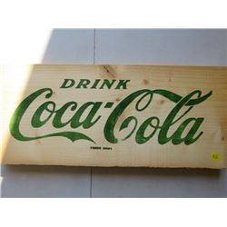 TWO WOODEN COCA COLA CRATE SIDES (NOS)
