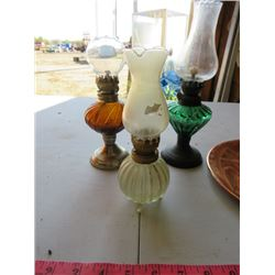 FOUR LAMPS-ASSORTED SIZES