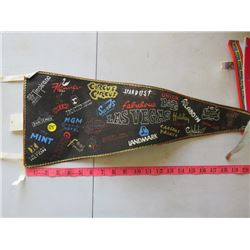 LOT OF 5 ASSORTED PENNANTS