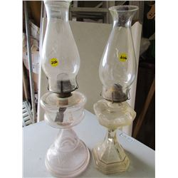 LOT OF 2 COAL OIL LAMPS (#2)