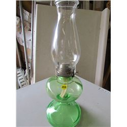 #2 GREEN DEPRESSION OIL LAMP