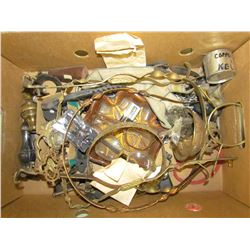 LOT OF ASSORTED LAMP PARTS