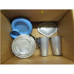 LOT OF CAMPING PLATES & CUPS
