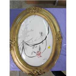 OVAL PICTURE FRAME (COMES WITH CONVEX GLASS)