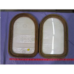 LOT OF 2 PICTURE FRAMES (C/W GLASS) *17 1/2 X 11 1/2*