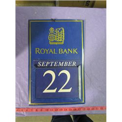 ROYAL BANK CALENDAR