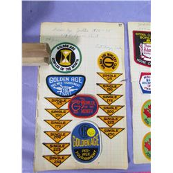 LOT OF BOWLING PATCHES, BADGES AND PINS
