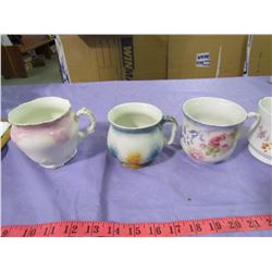 LOT OF 6 CUPS (SOME FROM COMMODE SETS)